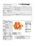 TR Topper Peach Ring Nutrition