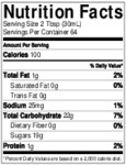 Torani Puremade Caramel Sauce Nutrition Information