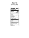 Regal Chives 9 oz. Nutrition