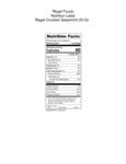 Regal Crushed Spearmint 30 oz. Nutrition