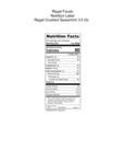 Regal Crushed Spearmint 3.5 oz Nutrition