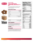 Casa Di Bertacchi 1.5 oz. Italian Style Fully Cooked Beef Meatballs Nutrition Information
