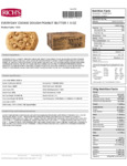 Rich's 1.5 oz. Everyday Preformed Peanut Butter Chip Cookie dough