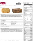 Rich's Everyday Preformed Sugar Cookie Dough Nutrition Information