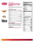 Rich's Jacqueline 1.5 oz. Preformed Vegan Chocolate Chip Cookie Dough Nutrition Information