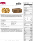 Rich's 1.5 oz. Everyday Preformed White Chocolate Chip Macadamia Nut Cookie Dough Nutrition Facts