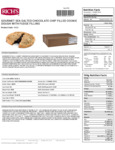 Rich's 3 oz. Gourmet Preformed Sea Salt Chocolate Chip Fudge-Filled Cookie Dough Nutrition Facts