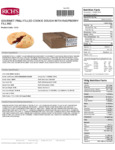 Rich's Gourmet Preformed Peanut Butter and Raspberry Filled Cookie Dough Nutrition Facts