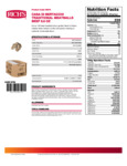 Casa Di Bertacchi 0.5 oz. Italian Style Fully Cooked Beef Meatballs Nutrition Information