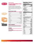 Rich's 35.27 oz. Sliced Italian Panini Bread Nutrition Information