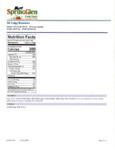 Spring Glen Fresh Foods 2 lb. Fudge Brownie Tray Nutrition Information
