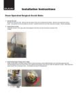 Elkay Knee Operated Sink Instructions