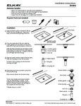 Elkay Drain Installation Instructions