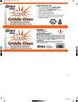 Griddle Kleen QuikPacks Label