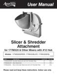 Avantco Slicer / Shredder Attachment Manual