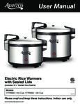Avantco 177RW60-92 Manual