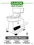 Garde Burger Press Manual