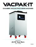 VacPak-It VMC16F Floor Model Chamber Vacuum Sealer Manual