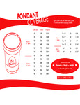 Fat Daddio's Fondant Coverage Chart
