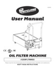 Fryclone 50 lb. Low Profile Portable Fryer Oil Filter Machine with Pump Manual