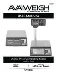 AvaWeigh 334PCS40 / 334PCS40T Manual