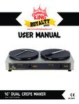Carnival King 382TCM16DBL Manual
