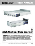 ServIt Strip Warmer Manual