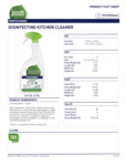 Disinfecting Kitchen Cleaner 7th Generation Spray