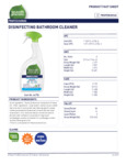 Disinfecting Bathroom Cleaner Spray - 7th Generation