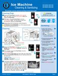 Hoshizaki KMD-410-460-530 Cleaning and Sanitizing