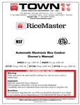 Rice Cooker Manual