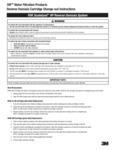 3M HP Reverse Osmosis System Instructions