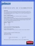 Calibration Certificate for this item