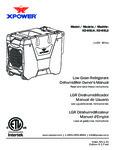 XPower LGR Dehumidifiers Manual