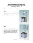 Vulcan BCKRISR-SX60 Reinforced Shelf Kit Installation Instructions