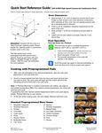 Amana AXP22 Xpress  quick start guide
