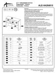 Alera ALEVA284815 Hutch Instructions