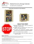 Alera Welded Economy Cabinet Instructions