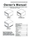 Amana HDC1015 1000W Owner's Manual