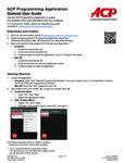 Amana HDC1015 1000W Programming Guide