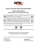 APW Wyott APWF-4050 Manual