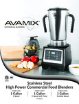 Avamix Commercial Blenders Manual