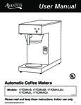 Avantco 177CMA Coffee Maker Manual