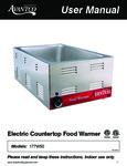 Avantco 177W50 Electric Countertop Food Warmer Manual
