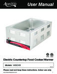 Avantco 177W50CKR Electric Countertop Food Cooker-Warmer Manual
