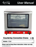 Avantco CO32 Half Size Convection Oven with Steam Injection