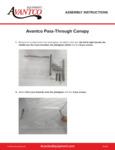 Instruction Sheet - Avantco Equipment Pass - Through Canopy