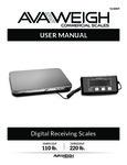 Avaweigh 110LP 220LP Digital Receiving Scales Manual