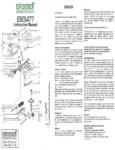 BG477 Sweeper Manual