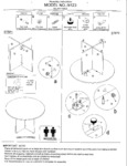 Boss N123 N127 Round Table Assembly Instructions